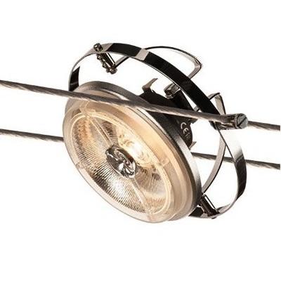 Светильник струнный WIRE QRB AR111 хром SLV