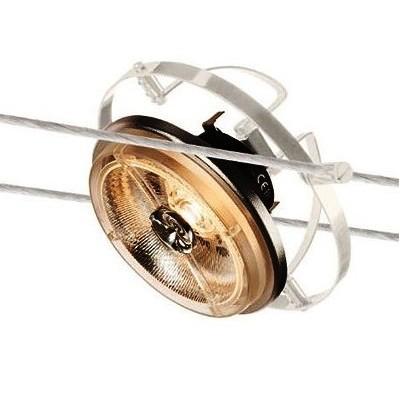 Светильник струнный WIRE QRB AR111 белый SLV