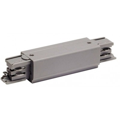 Коннектор прямой с токоподводом 4TRA серебро Eutrack 3phase
