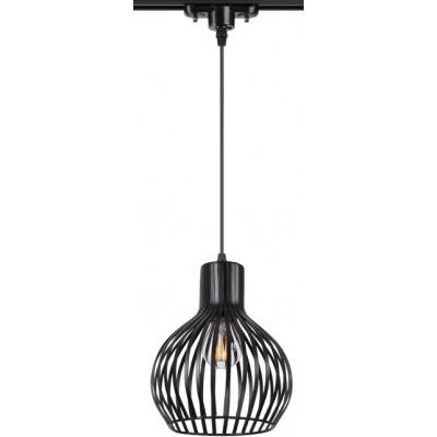 Трековый подвесной светильник 3L ZELLE E27 Черный