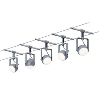 Струнный светодиодный светильник BALL 5X4W Хром матовый
