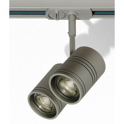Трековый светильник 3L GU10х2 серый Raumberg