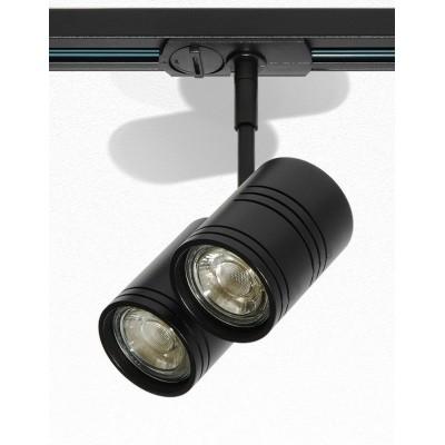 Трековый светильник 3L GU10х2 черный Raumberg