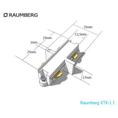 3L прямой внутренний соединитель 3-линейный белый Raumberg