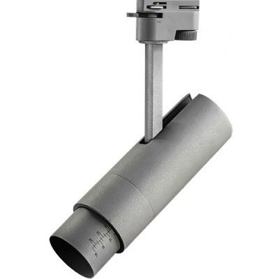 Светодиодный светильник для 1-фазного трека 15w серый 3000к 5-60 грд.