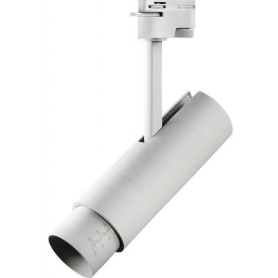 Светодиодный светильник для 1-фазного трека 15w белый 3000к 5-60 грд.