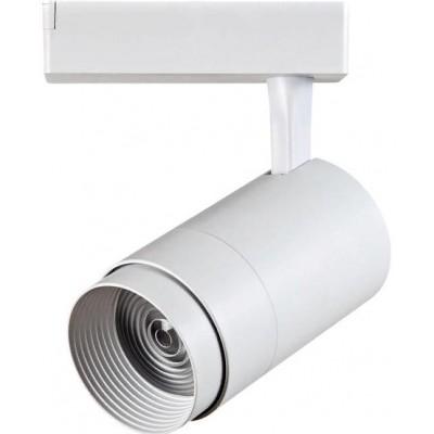 Трековый светодиодный LED светильник 30Вт 4200K регулируемый угол 15-60 град. белый