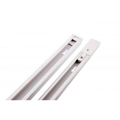 Трек (шинопровод) однофазный 1 м белый усиленный 2lines токоподвод и заглушка в комплекте