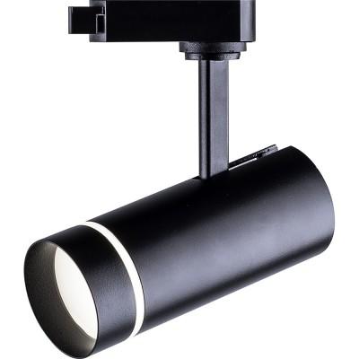 Трековый светодиодный светильник 12Вт 4000К черный уг.80грд