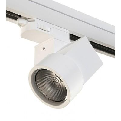 Трековый светильник на шинопровод 4TRA под лампу GU10 ILLUMO X1 белый