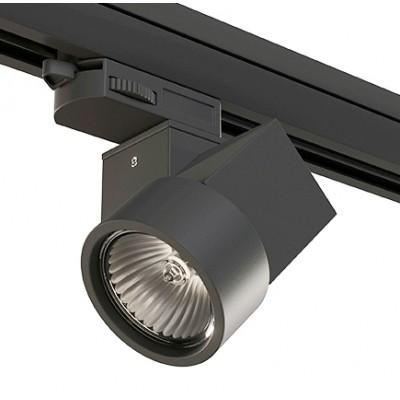 Трековый светильник на шинопровод 4TRA под лампу GU10 ILLUMO X1 черный