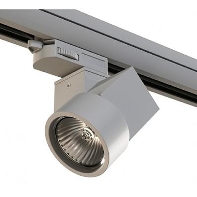 Трековый светильник на шинопровод 4TRA под лампу GU10 ILLUMO X1 серый