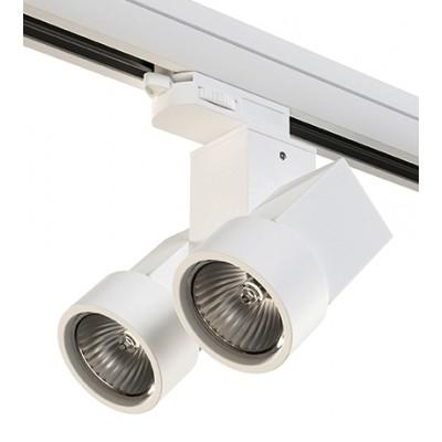 Трековый светильник на шинопровод 4TRA под лампу GU10x2 ILLUMO X2 белый