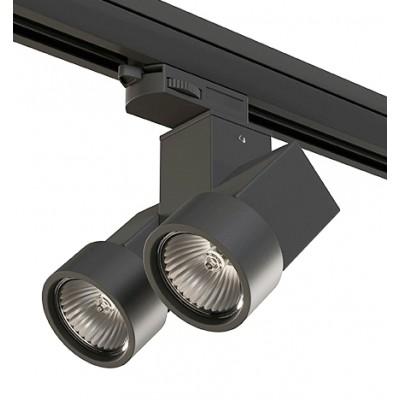 Трековый светильник на шинопровод 4TRA под лампу GU10x2 ILLUMO X2 черный