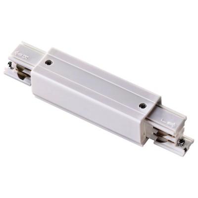 Соединитель с токоподводом прямой для трехфазного шинопровода белый