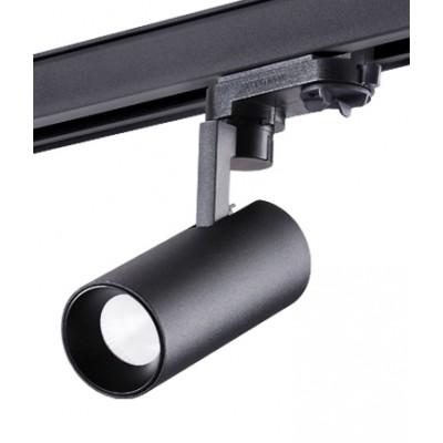 Трехфазный трековый светодиодный светильник HELIX 10вт 4000к черный корпус