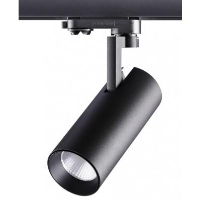 Трехфазный трековый светодиодный светильник HELIX 20вт 4000к черный корпус