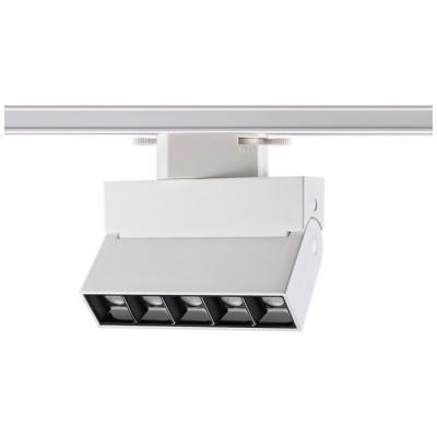 Трековый светодиодный LED светильник для однофазного шинопровода 3L 13W 3000к белый корпус