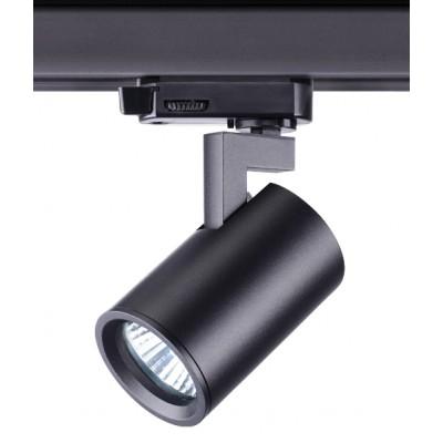 Трековый светильник GUSTO для трёхфазной шины 4TRA под лампу GU10 черный корпус