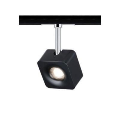 Трековый LED светильник Cube 8W Paulmann Диммируемый Черный матовый
