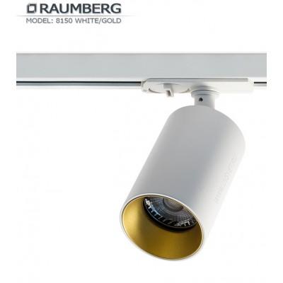 Трековый светильник для шины 3L RAUMBERG R-8150 GU10 Белый/золото корпус