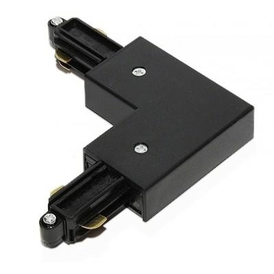 3L угловой соединитель с подводом питания 3-линейный черный Raumberg