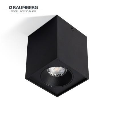 Светильник накладной RAUMBERG BOX SQ GU10 Черный корпус