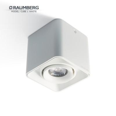 Светильник накладной с поворотной лампой RAUMBERG CUBE 1 GU10 Белый корпус