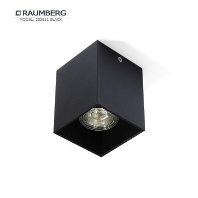 Светильник накладной RAUMBERG 202611 GU10 Черный корпус