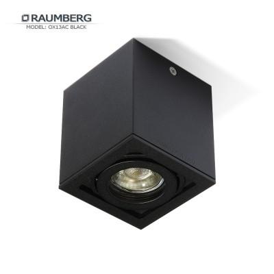 Светильник накладной поворотный RAUMBERG OX 13 AC GU10 Черный корпус