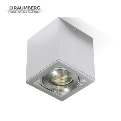Светильник накладной поворотный RAUMBERG OX 13 AC GU10 Серебристый корпус