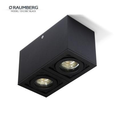 Светильник накладной поворотный RAUMBERG OX 13 BC GU10 Черный корпус