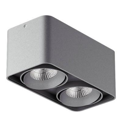 Накладной светильник MONOCCO 2 GU10X2 СЕРЫЙ
