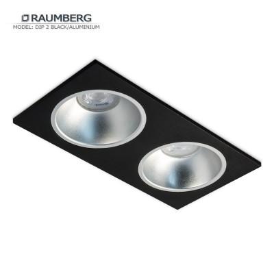 Светильник встраиваемый RAUMBERG DIP 2 Black/Aluminium