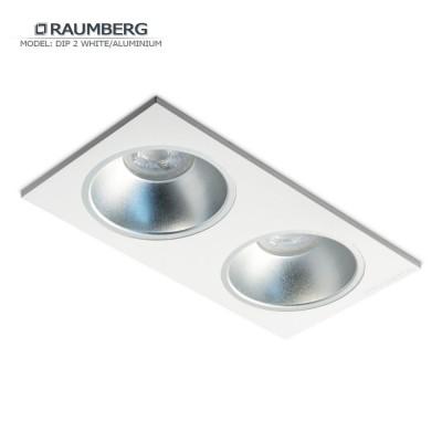 Светильник встраиваемый RAUMBERG DIP 2 White/Aluminium