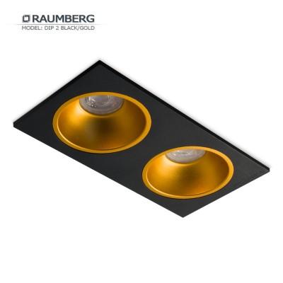 Светильник встраиваемый RAUMBERG DIP 2 Black/Gold