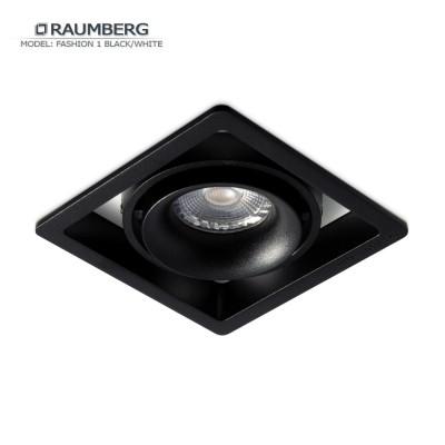 Светильник встраиваемый RAUMBERG FASHION 1 черный-белый