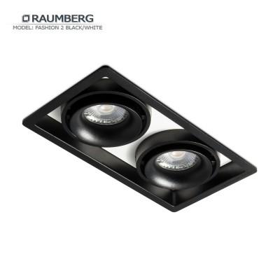 Светильник встраиваемый RAUMBERG FASHION 2 черно-белый