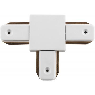 Коннектор T-образный для однофазного шинопровода эконом белый