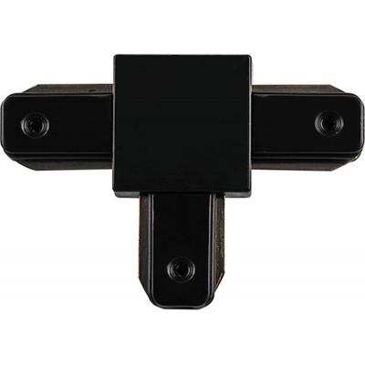 Коннектор T-образный для однофазного шинопровода эконом черный