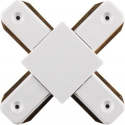 Коннектор X-образный для однофазного шинопровода эконом белый