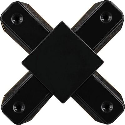 Коннектор X-образный для однофазного шинопровода эконом черный
