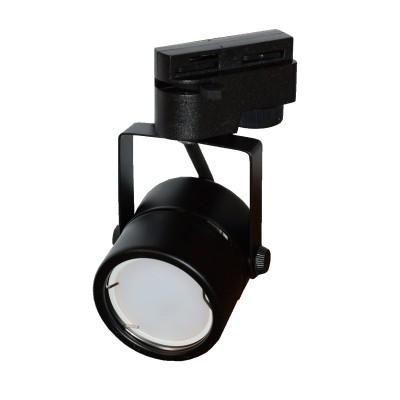 Трековый светильник на однофазный шинопровод под лампу GU10 черный