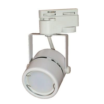 Трековый светильник на однофазный шинопровод под лампу GU10 белый