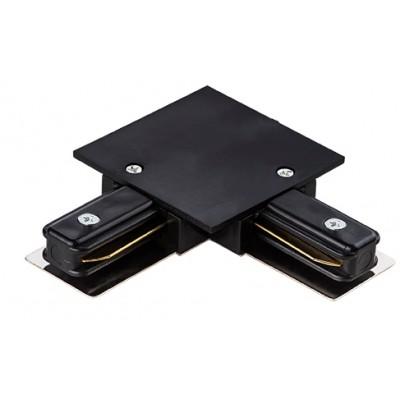 Угловой соединитель для однофазного встраиваемого шинопровода 2Line черный