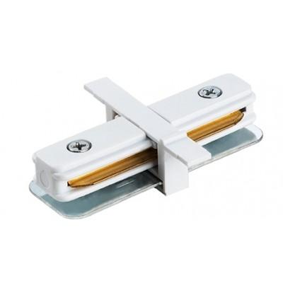 Прямой соединитель для однофазного встраиваемого шинопровода 2Line белый