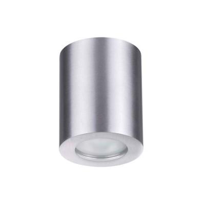 Потолочный накладной влагозащищенный светильник GU10 AQUANA IP44 матовый алюминий