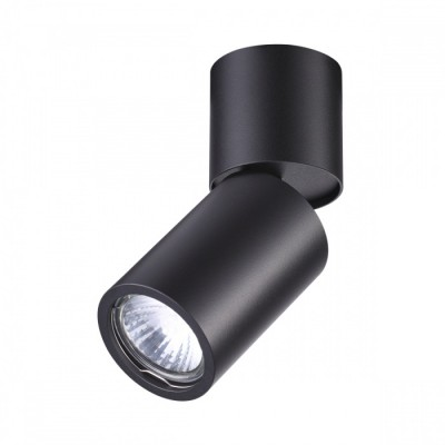 Потолочной накладной светильник GU10 DUETTA черный