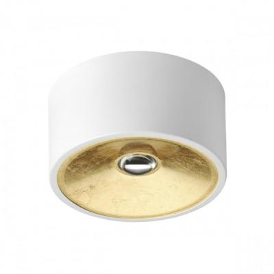 Потолочной накладной светильник GU10 GLASGOW белый/золото