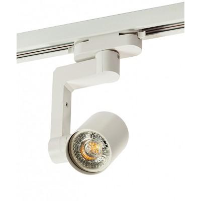 Трековый однофазный светильник под лампу GU10 белый корпус